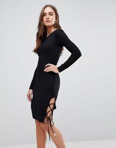 Облегающее платье с длинными рукавами Finders Keepers - Черный
