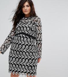 Кружевное платье-футляр с цветочным узором Lovedrobe - Мульти