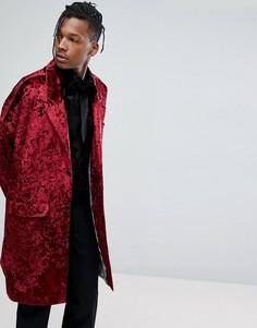 Легкое бархатное пальто Noose & Monkey - Красный