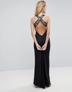 Платье макси с отделкой пайетками на лифе ASOS - Черный