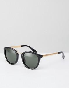 Черные круглые солнцезащитные очки AJ Morgan Tidbets - Черный