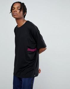 Oversize-футболка Mennace - Черный