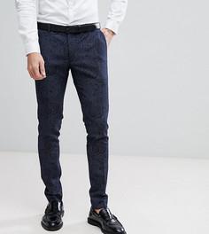 Супероблегающие брюки с принтом и добавлением шерсти Heart & Dagger - Темно-синий