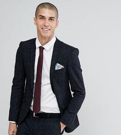 Приталенный пиджак с принтом Heart & Dagger - Черный