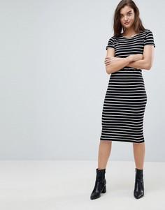 Платье-футболка миди Pieces - Черный