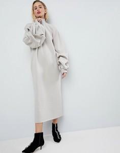 Трикотажное оверсайз-платье ASOS WHITE - Мульти
