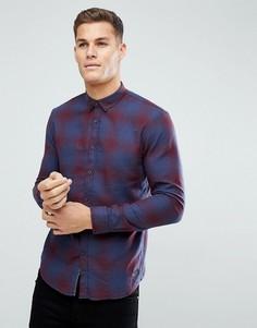 Рубашка в клетку (темно-синий/бордовый) Tom Tailor - Красный