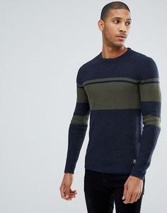 Джемпер с контрастными полосками Tom Tailor - Зеленый