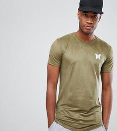 Обтягивающая футболка цвета хаки Good For Nothing TALL - Зеленый
