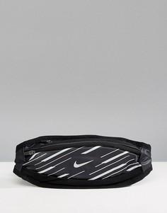 Небольшая черная сумка-кошелек на пояс Nike Running 360 RL.95-037B - Серый