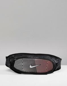 Большая черная сумка-кошелек на пояс Nike Running RL.97-096 - Черный