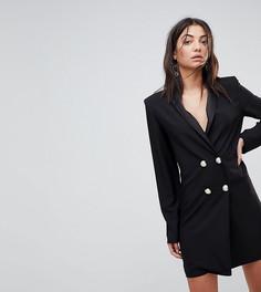 Платье-смокинг мини с пуговицами ASOS TALL ULTIMATE - Черный
