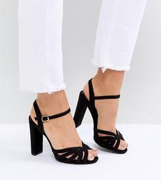 Босоножки для широкой стопы на платформе с ремешками New Look - Черный