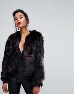 Укороченная куртка из искусственного меха Morgan - Черный