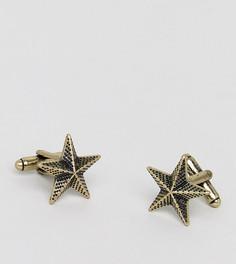 Запонки со звездами Reclaimed Vintage Inspired эксклюзивно для ASOS - Золотой