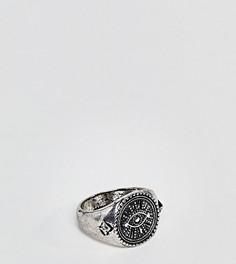 Кольцо-печатка Reclaimed Vintage Inspired эксклюзивно для ASOS - Серебряный