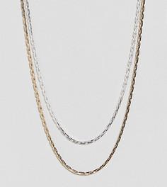 Набор из 2 ожерелий Reclaimed Vintage Inspired эксклюзивно для ASOS - Серебряный