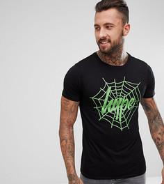 Черная футболка с принтом паутины Hype Halloween - Черный