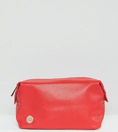 Ярко-красная косметичка из мятой искусственной кожи Mi-Pac - Красный