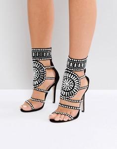 Босоножки на каблуке с декоративной отделкой Public Desire Cleopatra - Черный