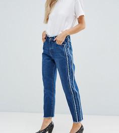 Прямые джинсы с бахромой Missguided Petite - Синий