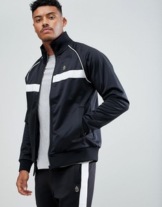 Черная спортивная куртка с воротником-трубой Luke Sport Eric - Черный