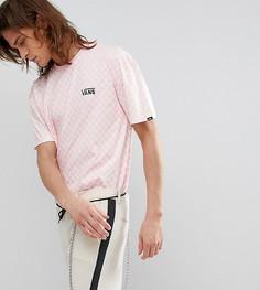 Розовая оверсайз-футболка с шахматным принтом Vans эксклюзивно для ASOS - Розовый