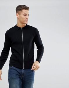 Черная трикотажная куртка-рубашка Burton Menswear - Черный