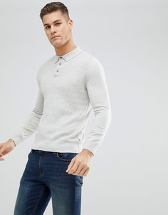 Поло с длинными рукавами Burton Menswear - Серый