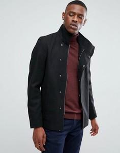 Пальто асимметричного кроя с добавлением шерсти Only & Sons - Черный