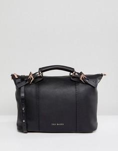 Кожаная сумка-тоут Ted Baker - Черный