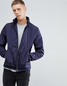 Темно-синяя нейлоновая куртка на молнии PS Paul Smith - Темно-синий