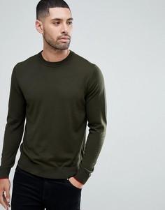 Джемпер из мериносовой шерсти цвета хаки PS Paul Smith - Зеленый