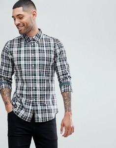 Приталенная рубашка в черную клетку PS Paul Smith - Черный