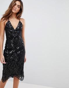 Платье-футляр миди Chi Chi London - Черный