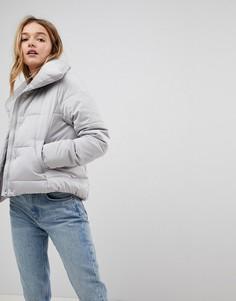 Стеганая дутая куртка New Look - Серый