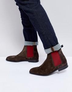 Темно-коричневые замшевые ботинки челси PS Paul Smith Gerald - Коричневый