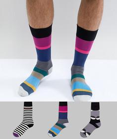 Подарочный набор из 3 пар носков в полоску/горошек Paul Smith - Мульти