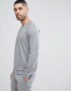 Серый меланжевый джемпер для дома с круглым вырезом Paul Smith - Серый
