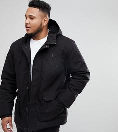 Черная куртка на подкладке из искусственного меха River Island PLUS - Черный