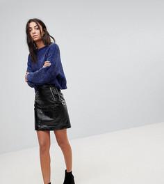 Виниловая мини-юбка Noisy May Tall - Черный