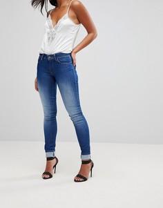 Зауженные джинсы пуш-ап с завышенной талией Salsa Wonder - Синий