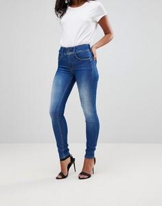 Корректирующие талию зауженные джинсы Salsa Secret - Синий