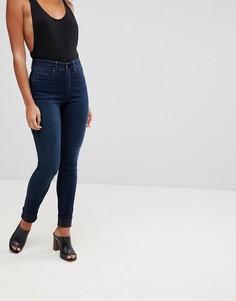 Зауженные джинсы пуш-ап с завышенной талией Salsa Glamour - Синий