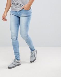 Светлые джинсы скинни Dr Denim - Синий
