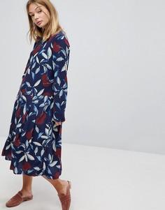 Платье миди с цветочным принтом Y.A.S - Мульти