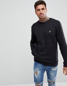 Черный свитшот с карманом Lyle & Scott - Черный