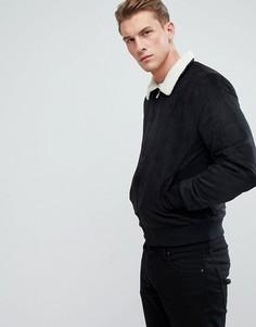 Куртка из искусственной замши Only & Sons - Черный