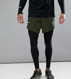 Леггинсы для бега с шортами Ellesse - Черный