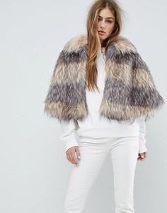 Кейп Unreal Fur Landscape - Бежевый